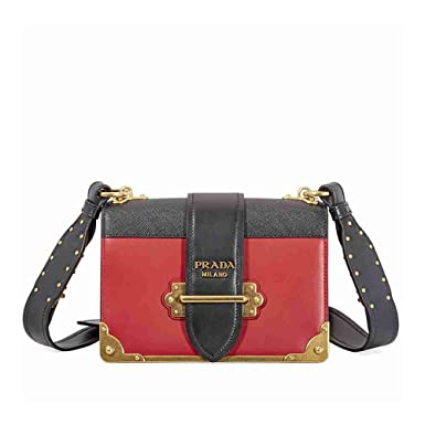 Cahier bi-colour leather cross-body bag Prada 9qfm9EIem