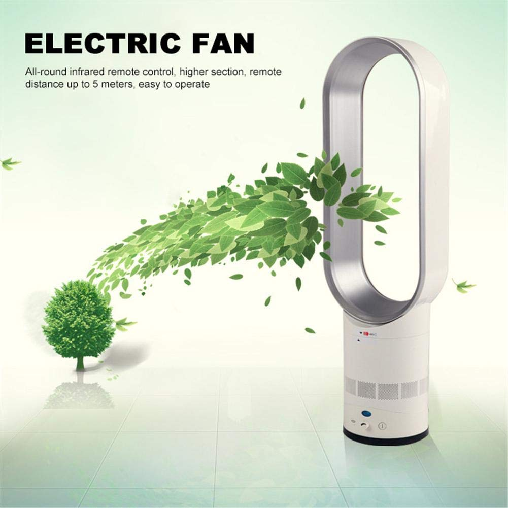 precauti Bladeless Fan Remote Control Cooling Fan Negative Ions Air Cleaner Purifying Electric Fan for Home and Office Cooling