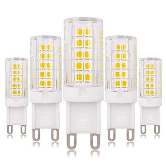 Bombilla LED G9, 4 W, 220 – 240 V CA, luz blanca cálida