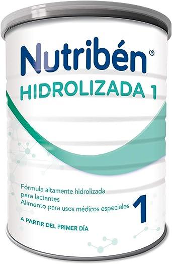 Nutribén Hidrolizada 1 Leche en polvo de iniciación para bebés con alergia a la proteína de leche de vaca- de 0 a 6 meses- 1 unidad 400g