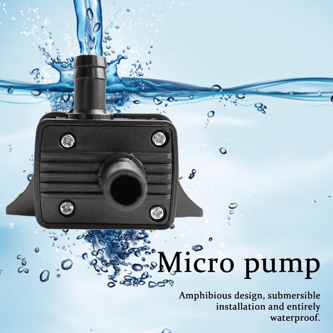 ToGames Haute performance QR30E CC 12V 4.2W 240L H CPU de refroidissement Pompe /à eau sans brosse de refroidissement Pompe sans brosse /étanche