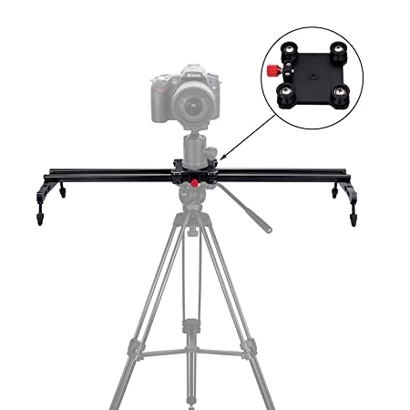 "Review pangshi 24"" Camera Slider Dolly Track Glider System with Roller Bearing for DSLR Video Camera"