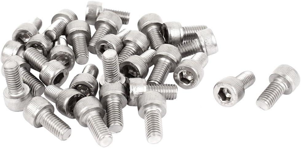 30pcs 0.8mm Pitch M5x25mm Stainless Steel Hex Socket Head Cap Machine Screws