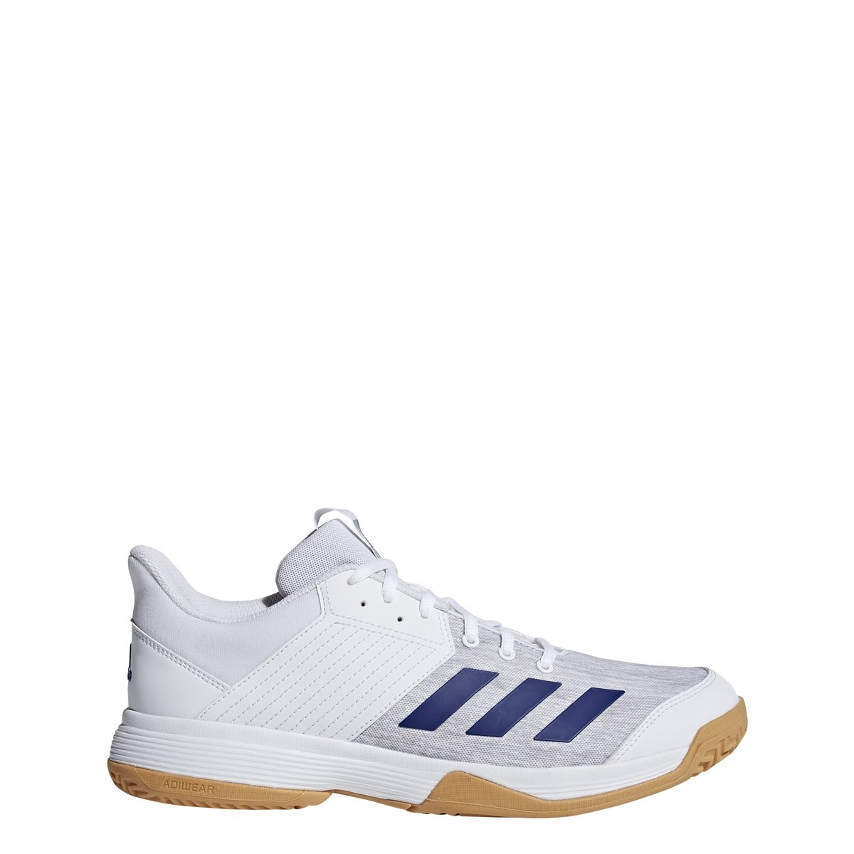adidas Men's Ligra 6 Volleyball Shoe, White/Mystery Ink/Grey, 4.5 M US