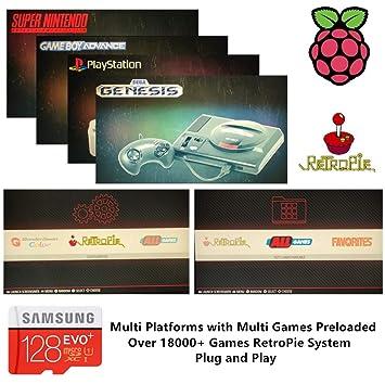 Amazon.com: RetroPie SD Card 128GB for Raspberry Pi 3 B+ ...