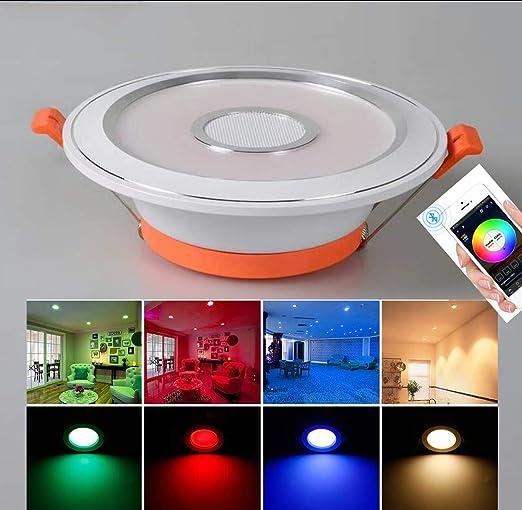 SHADIOA Proyectores empotrables Inteligente LED RGB CW lámparas de ...