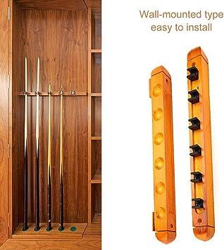 Juego de palos de billar de madera para colgar en la pared: Amazon ...
