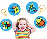 Aitey Speed Cube Set, Magic Cube Bundle 2x2x2 3x3x3 Pyramid Skew Speed Cube Smooth Sticker Cubes Collection Puzzle Toy for Kids and Adults - 4 Pack