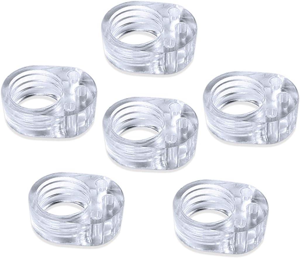 Vanble 6pcs PVC Topes de Puerta Silicona Flexible Ideales para Proteger la Integridad de Paredes, Muebles, Tope de Puerta Adhesivo, Goma De Color Blanco, Acabado Mate Satinado