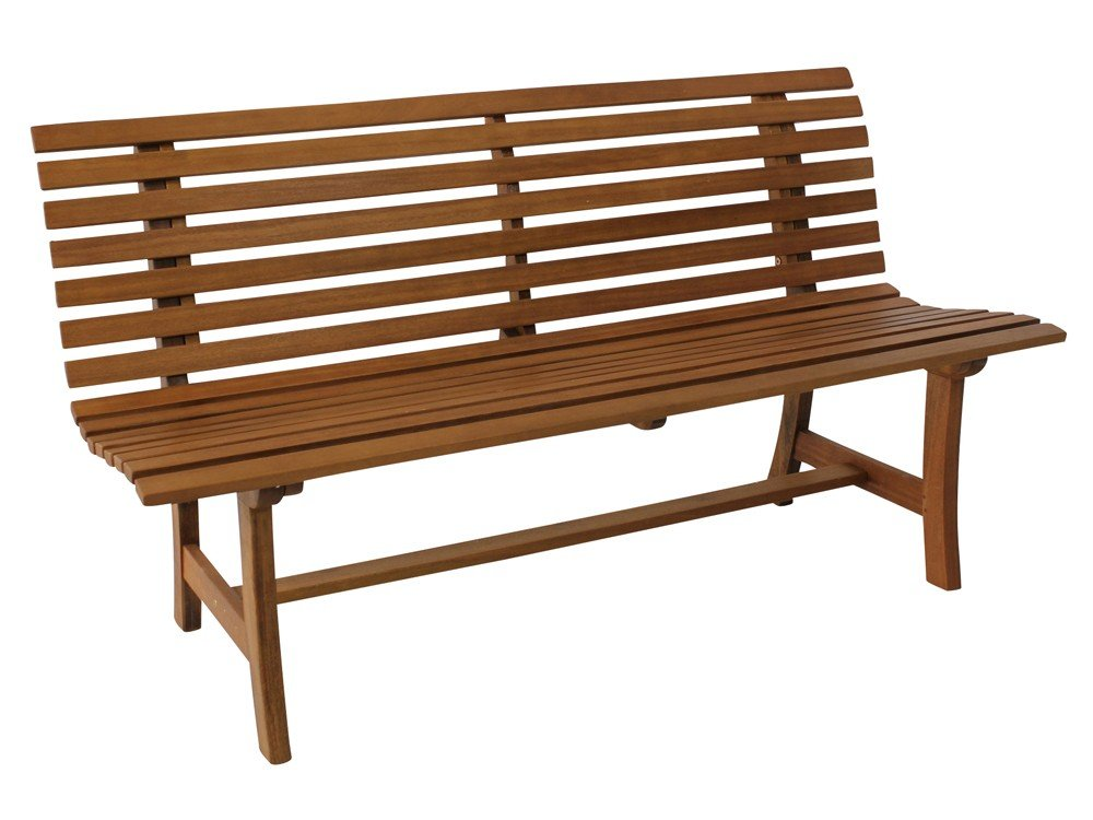 Gartenbank Parkbank 3 Sitzer Holz Bank Massivholz natur kaufen