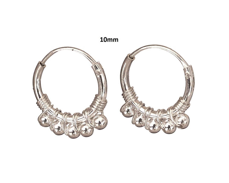 Sterling Silver Hoops bali hoop earrings sterling silver Pair of 16mm Sterling Silver Hoop Earrings Handmade Hoop Earrings for Women
