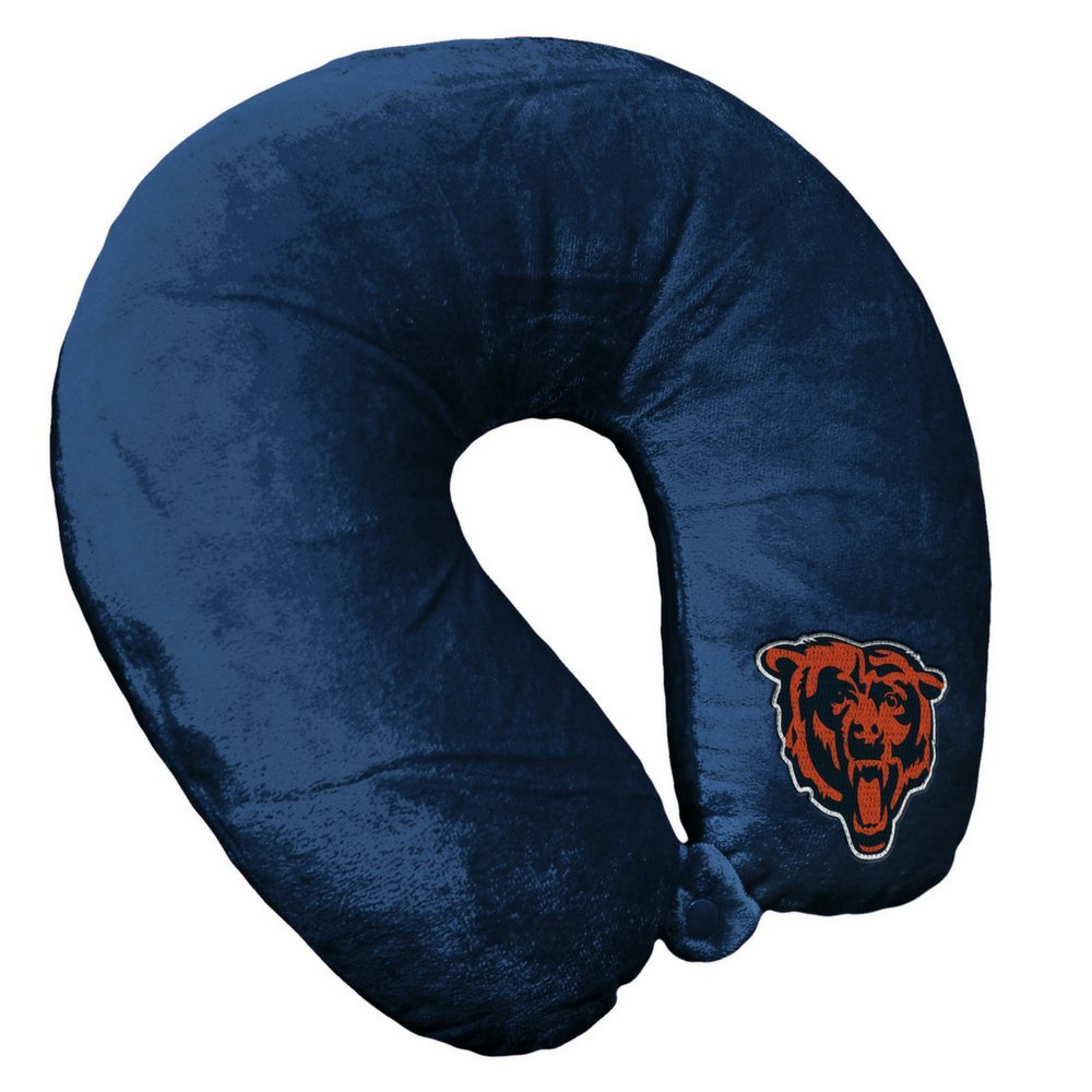 NFL Chicago Bears Travel Pillow U Neck Pillow | Travel Pillows for Airplanes, Chicago Bears U shaped Neck Pillow for Traveling