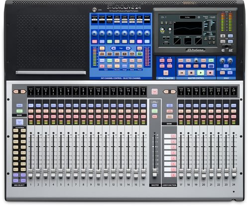 PreSonus StudioLive 24 Series III 46 x 26 digital mixer with 24 recallable XMAX preamps and 24 channel strips by PreSonus