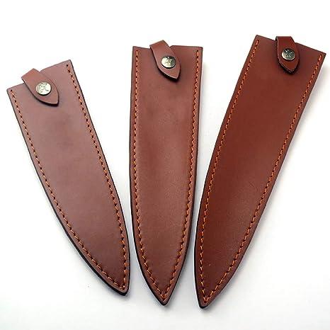 Cowhide Knife Sheath, 8 Inch Mercer Knife Guard,Universal Knife Cover Or Sleeves, Knife Blade Protectors, Heavy Duty Chef Knife Edge Guard, Perfect ...
