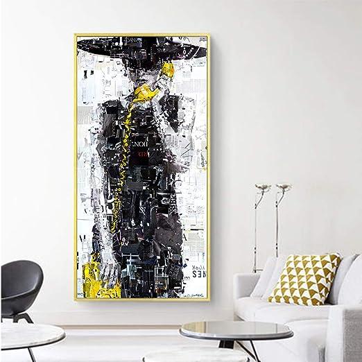 Rtckf Peinture Murale Sur Toile Moderne Pour Fille Imprimée