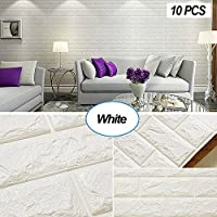 Masione 3D Self-Adhesive 10-Piece Faux Foam Bricks for Wall Panels (58.13 sq.ft)