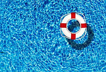 GoHeBe Blue Swimming Pool Backdrop 10x7ft Vinyl Photography Backgroud Abstract Blue Water Surface Cute Swimming Ring Uncorn Ducking Swan Summer Party Children Holiday Portraits