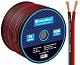 InstallGear 14 Gauge AWG 500ft Speaker Wire Cable - Red/Black