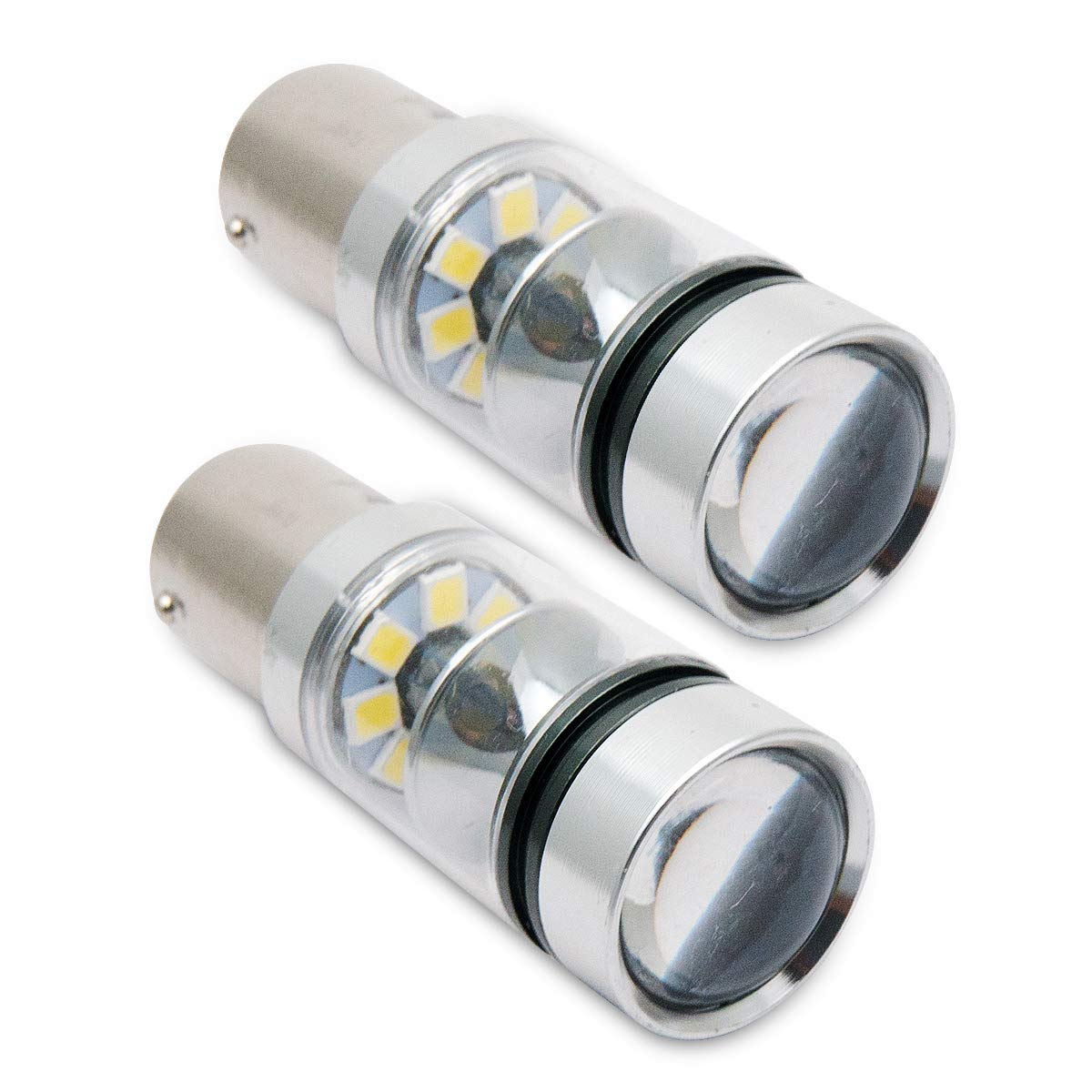 100W 2X 1156 BA15S 382 P21W CREE XBD WHITE LED STOP REVERSE LIGHT CANBUS Bulbs