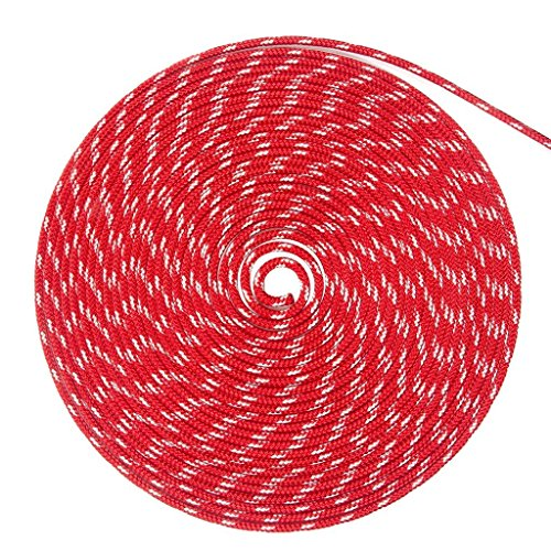 WindRider Ropes 3/8in (10mm) Sta-Set Solid Red 100 Feet Long ()