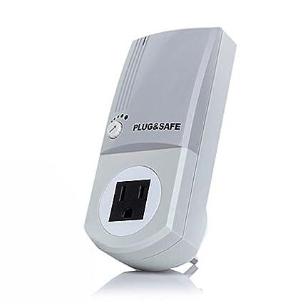 Plug & Safe - Alarm Motion Sensor Detector - Wireless Security System for Home - Adjustable