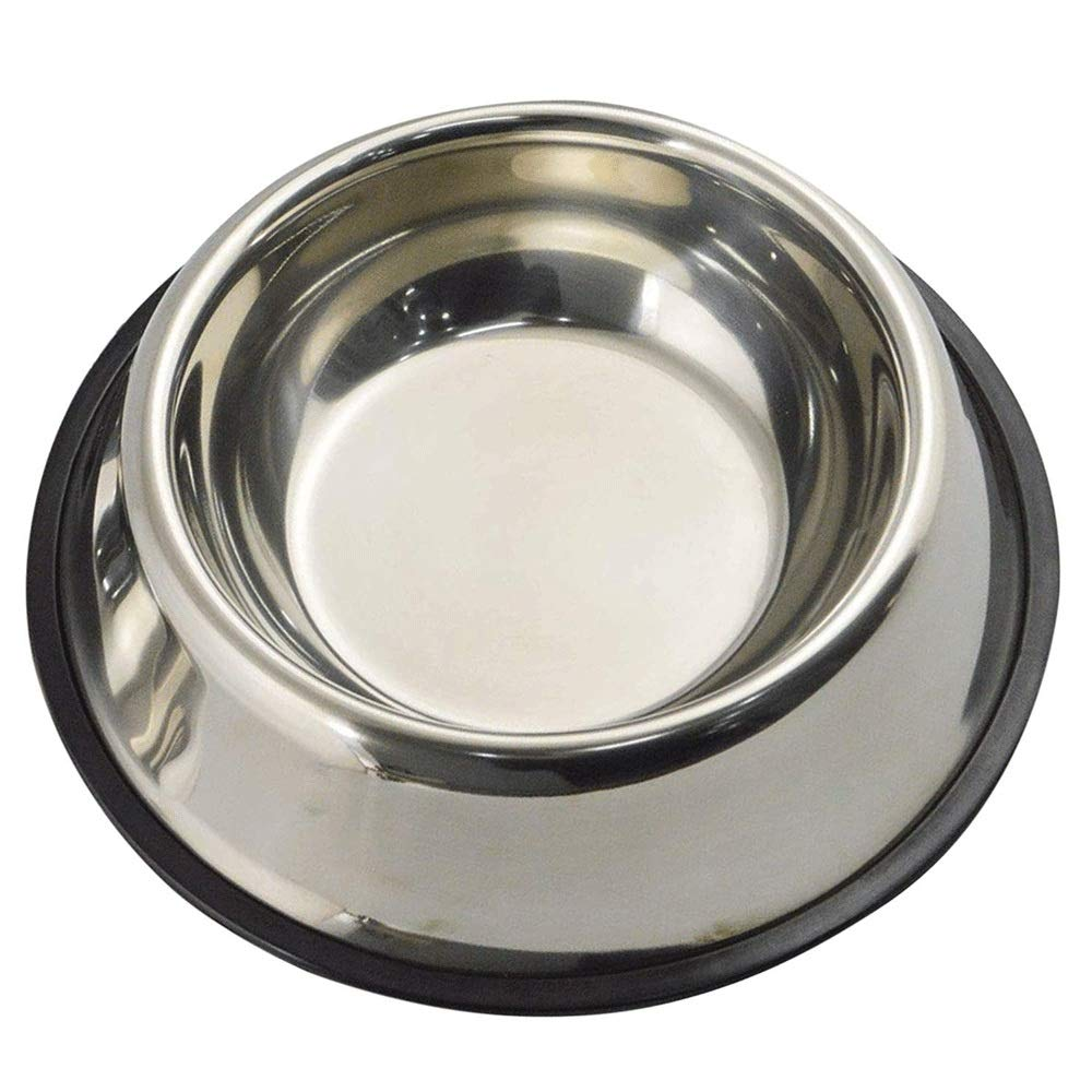 15.5cm HKJhk Stainless Steel Dog Bowl Non-Slip Cartoon Dog Food Bowl Large Medium and Small Dogs Pet Cat Dog Feeder Pet Bowl (Size   15.5cm)