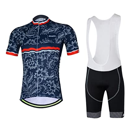 9208368cb Aogda Men Cycling Jersey Short Sleeve Shorts Bike Bicycle Clothing 4D Padded  Quick Dry Racing Cycle