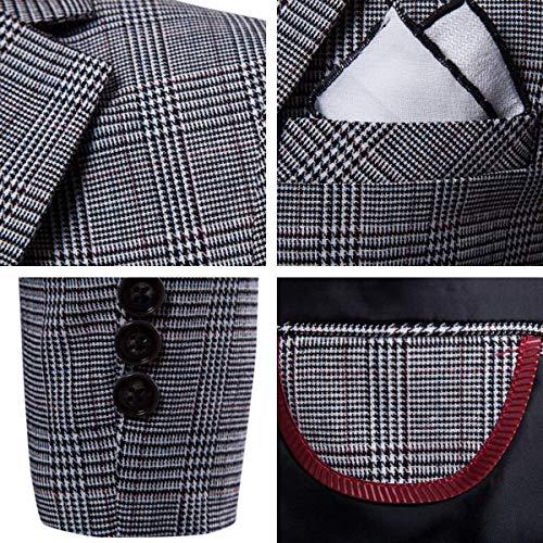 Fit Cappuccio Con Hx Blazer 1 Prom Leisure Kaffeebraun Slim Abiti Comode Da Giacca Uomo Quadri Tuxedo Fashion A Taglie Jacket xvqPX