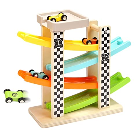 Amazon Com Samber Children Ramp Car Racing Games Wooden Zig Zag