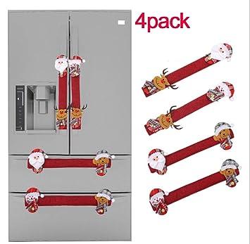 Juego de 4 fundas para manijas de puerta de frigorífico, diseño de ...