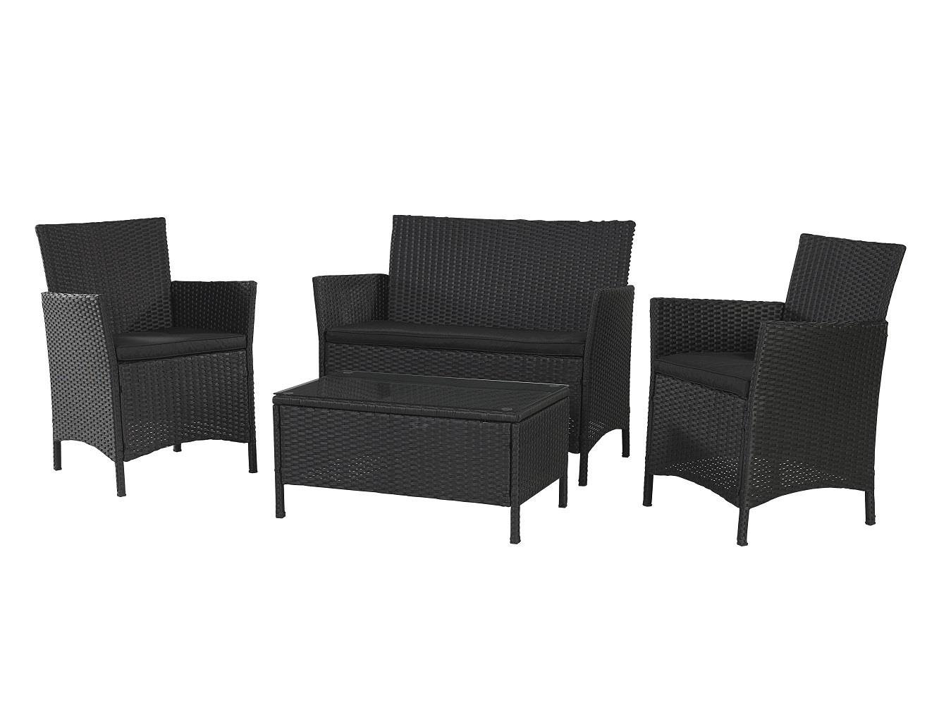 amazon com cosco outdoor conversation set 4 piece black wicker