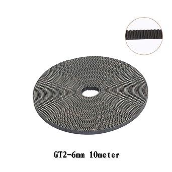 FYSETC Cinturón de impresión 3D, 10 metros (33 pies) GT2 correa de ...