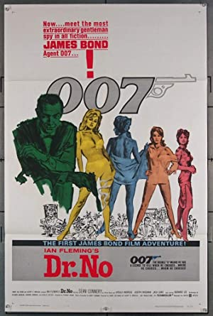 Dr No 1962 Original US One Sheet Movie Poster 27x41 Foldedquot