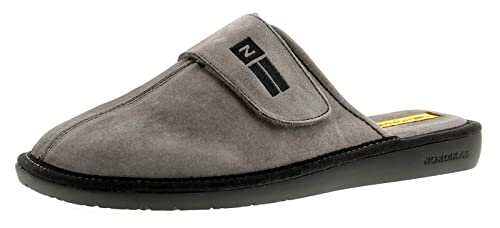 0c2a75c1a2f Nordikas 375 Suede (Afelpado) Mens Leather Mule Slippers Grey - Grey - UK  Size