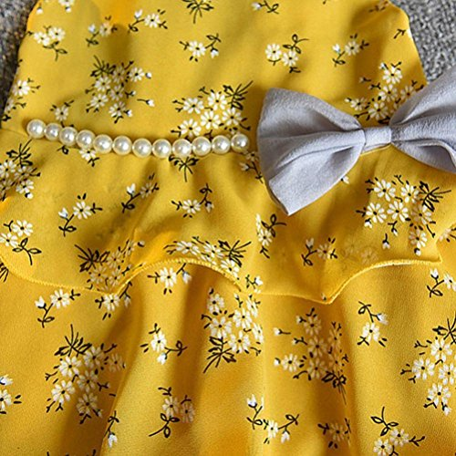 6 pezzi anni Giallo sole da Set Baby Pants stampata increspata Canotta fiori 2 Camicetta Vest 3 Angelof Cappello Girl con Tqffz
