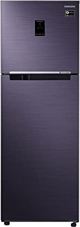 Samsung 345 L 3 Star Frost Free Double Door Refrigerator(RT37M5538UT/TL, Pebble Blue, Convertible)