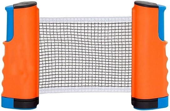 gancunsh Ping Pong Net Retractable Table Tennis Nets Post Set Ajustable Cualquier Mesa en Cualquier Lugar Interior y Exterior Accesorios