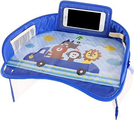 Mesa de comedor para bebés Organizador de bandejas de asiento de automóvil a prueba de agua Accesorios para el automóvil: Amazon.es: Bebé
