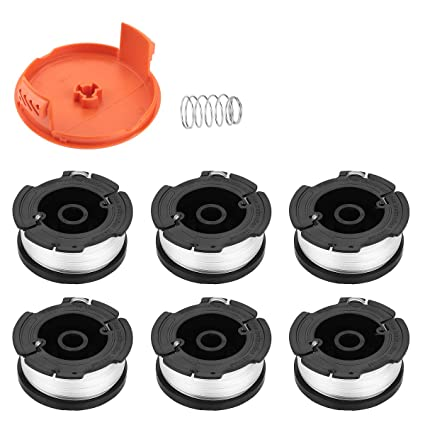 Energup Replacement Black and Decker String Trimmer Spools, Fit for Black Decker AF-100 Weed Eater Autofeed Spool 0.065 Single GH600 GH900 with ...