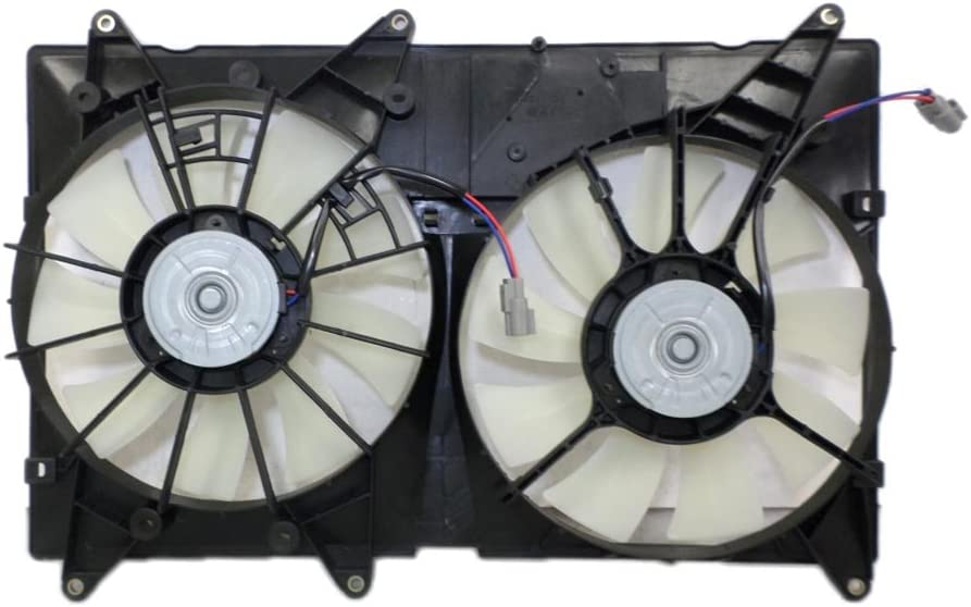 Dual Radiator and Condenser Fan Assembly - Cooling Direct For/Fit TO3115128 01-07 Toyota Highlander 4cy WITH TOWING (6cy WITHOUT TOW) 01-03 Lexus RX300