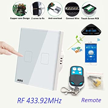 WiFi Smart Touch Bildschirm Switch Phosphoreszierendes EU Standard ...