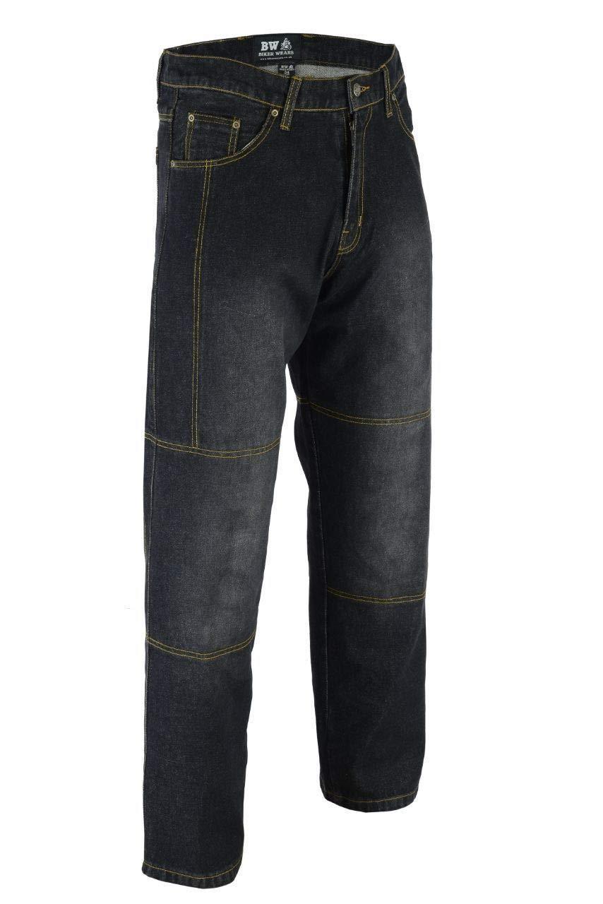 BIKER WEARS LIMITED Pantalon de s/écurit/é pour moto en jean avec doublure de protection renforc/ée CE