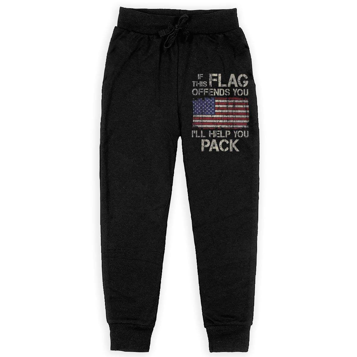 Girls Fleece Pants for Teen Boy WYZVK22 If This Flag Offends You Ill Help You Pack Soft//Cozy Sweatpants