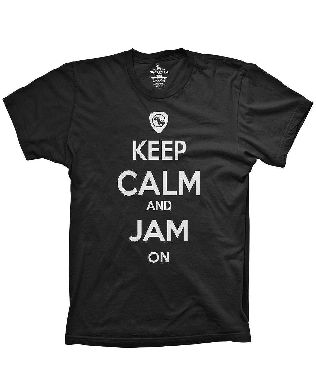 Keep Calm and Jam onシャツギターTシャツおもしろTシャツグラフィックTシャツ US サイズ: 4L カラー: ブラック B076HT6L57