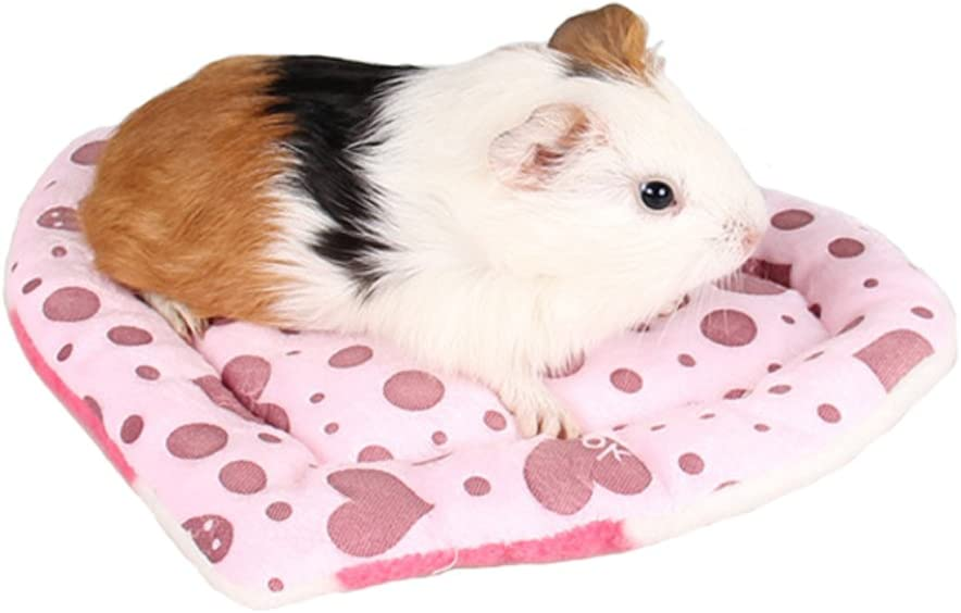Bbeart Pet Bed Mats Cute Pet Hamster Guinea Pig Warm Mat Pad Scratch Resistance Heart Shaped Bed Sleep For Small Pets Pink Love Pet Supplies