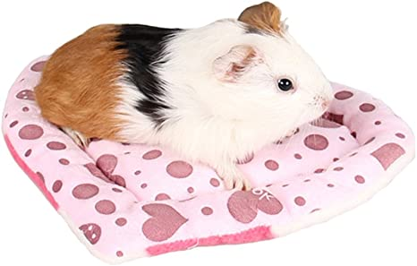 Amazon Com Bbeart Pet Bed Mats Cute Pet Hamster Guinea Pig Warm Mat Pad Scratch Resistance Heart Shaped Bed Sleep For Small Pets Pink Love Pet Supplies