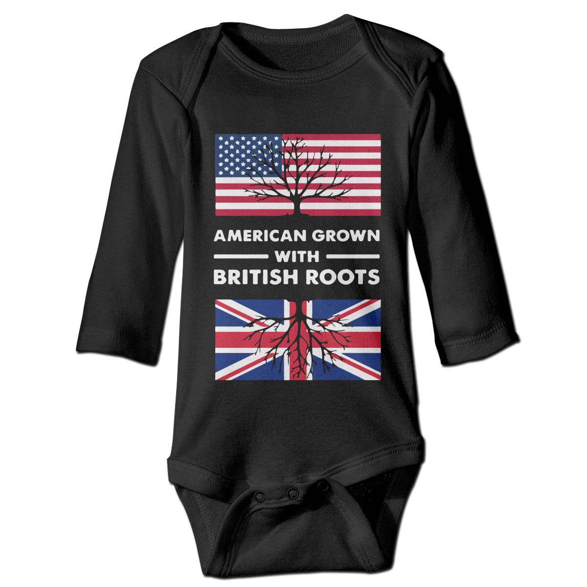 CZDedgQ99 Baby Boys American with British Roots Long Sleeve Climbing Clothes Bodysuits Suit 6-24 Months