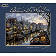 Perfect Timing Lang Around The World 2016 Wall Calendar by Evgeny Lushpin, January 2016 to December 2016, 13.375x24-Inch (1001892)