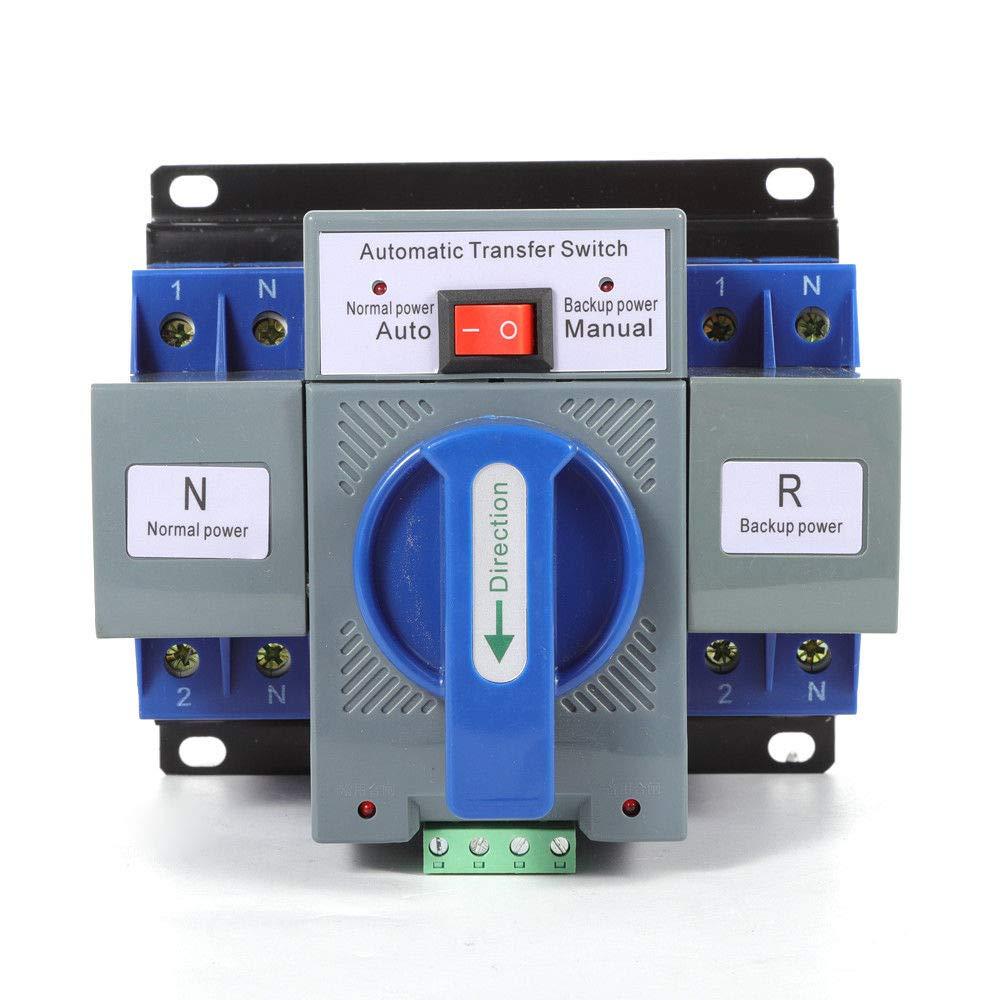 Xianxus 110V 2P 63A Dual Power Automatic Transfer Switch Generator Changeover Switch by Xianxus