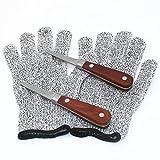 Oyster Knife Shucker Stainless Steel 2 pcs SET + Gloves